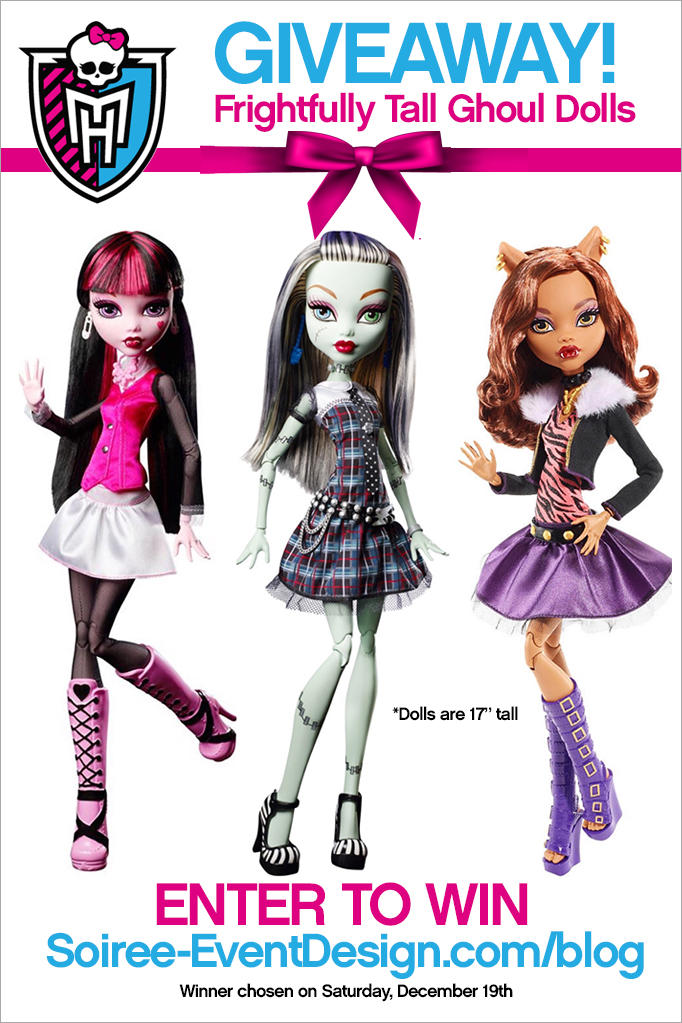 Monster High Frightfully Tall Ghoul Dolls Giveaway