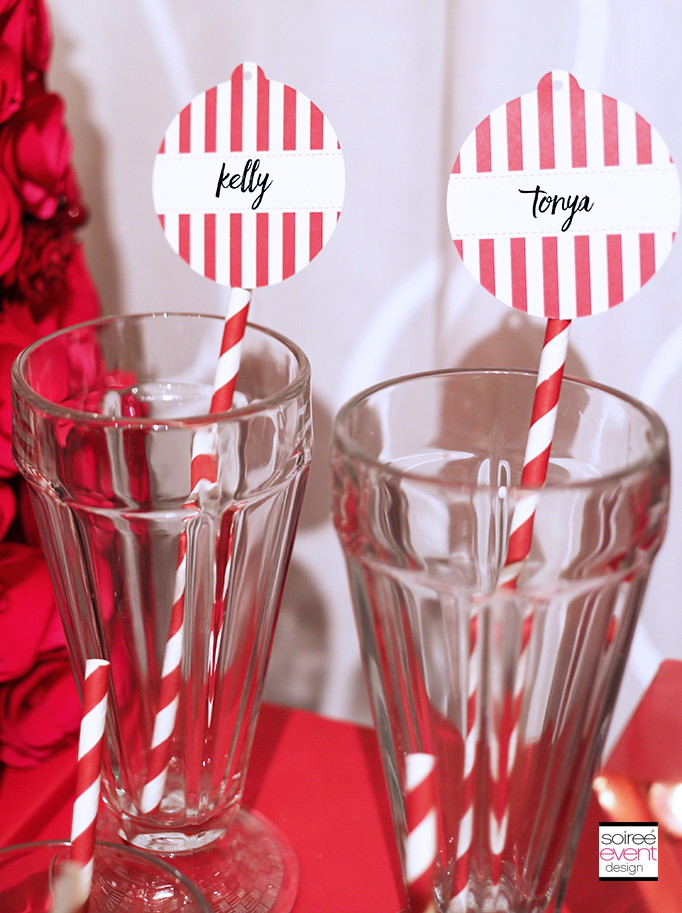 Personalized party straws