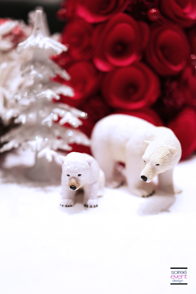 Red and White Holiday decorations