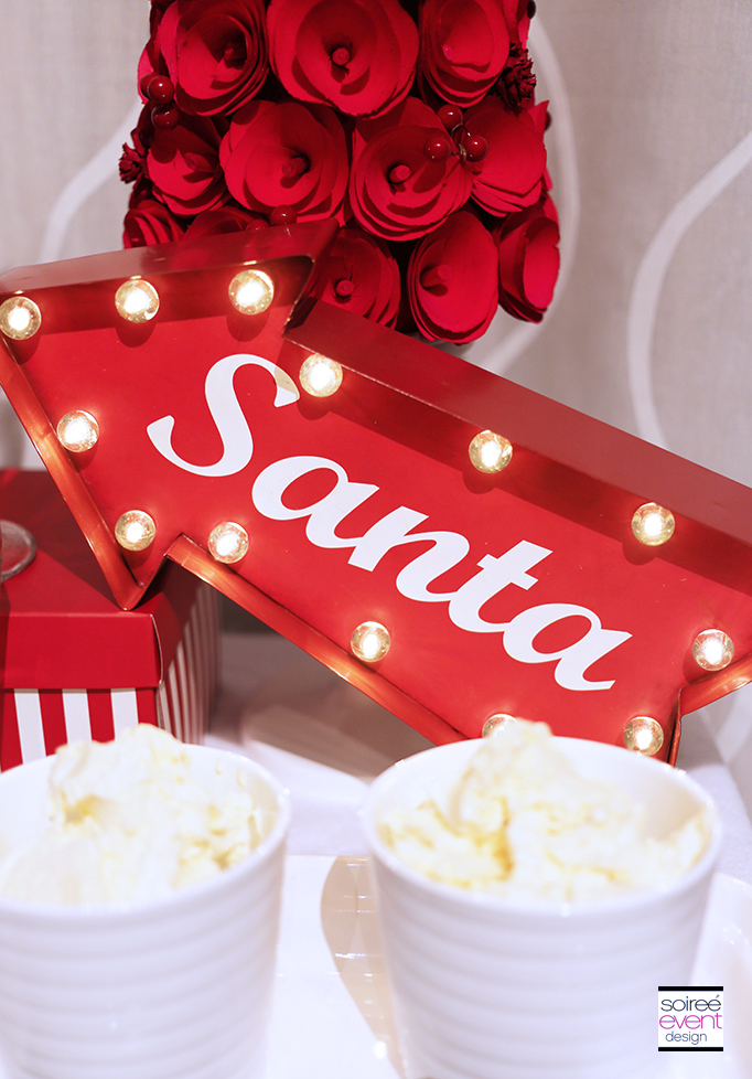 Retro Santa Marquee Sign