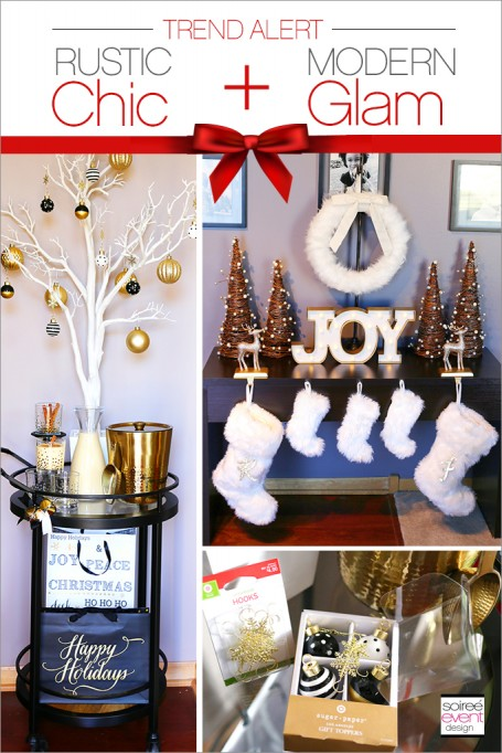 How to Mix and Match Decor for a Rustic Chic and Modern Glam Christmas!