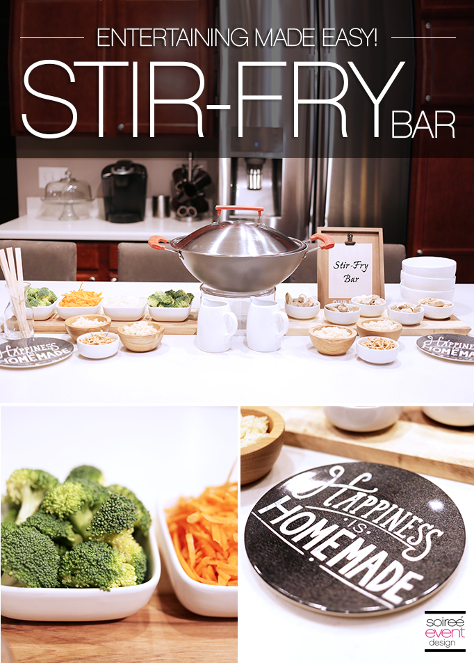 Entertaining Made Easy with a Stir-Fry Food Bar
