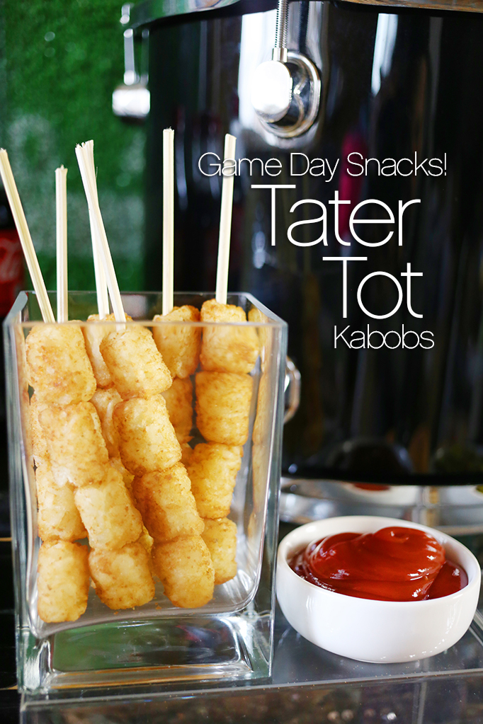 Game Day Snacks - Tater Tot Kabobs