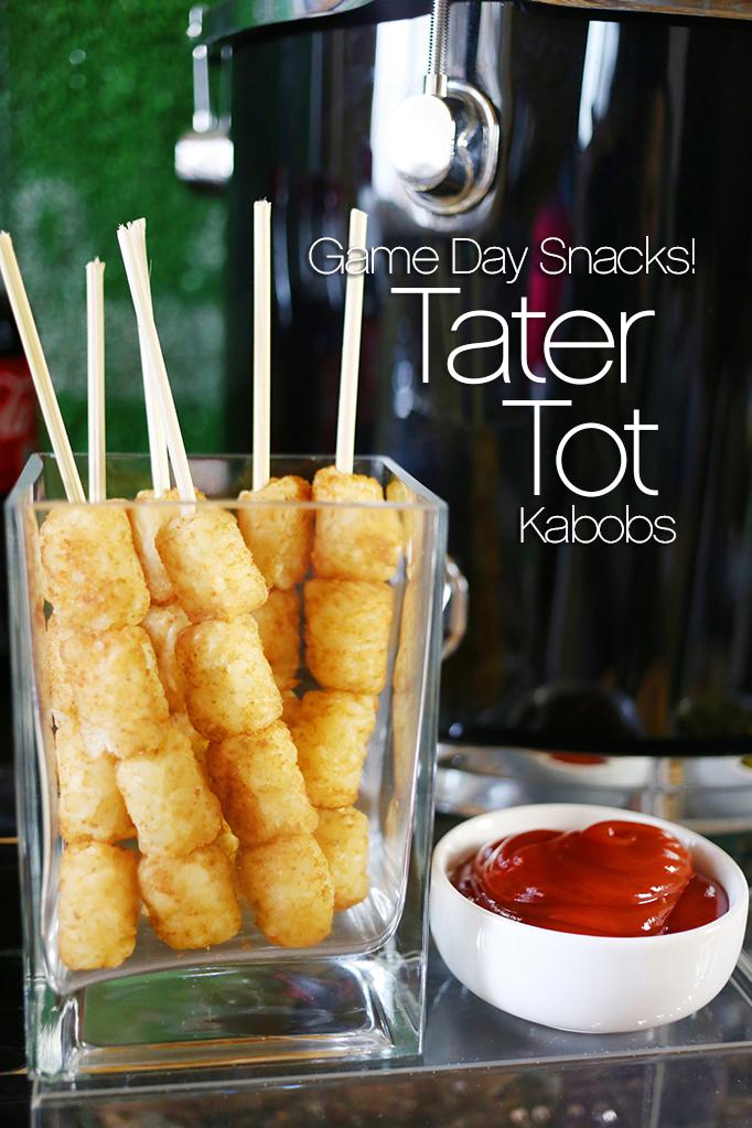 Game Day Snacks - Tater Tot Kabobs
