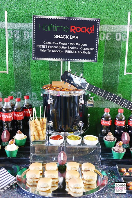 HALFTIME ROCKS – Football Party Snack Bar Ideas!