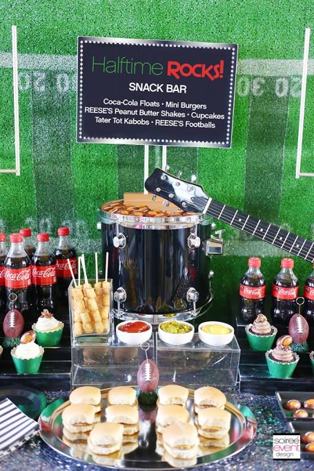 HALFTIME ROCKS – Football Party Snack Bar Ideas!