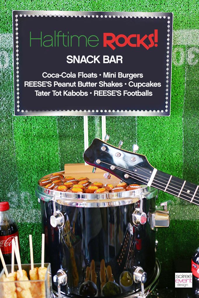 Halftime Rocks Snack Table