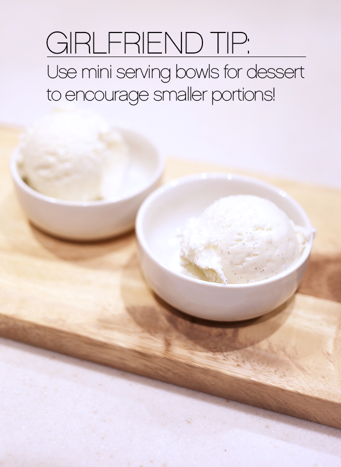Mini serving bowls for dessert