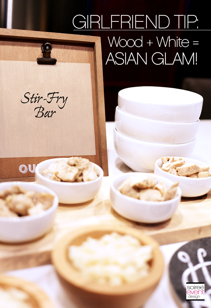 Mix Wood with White for an Asian Glam look