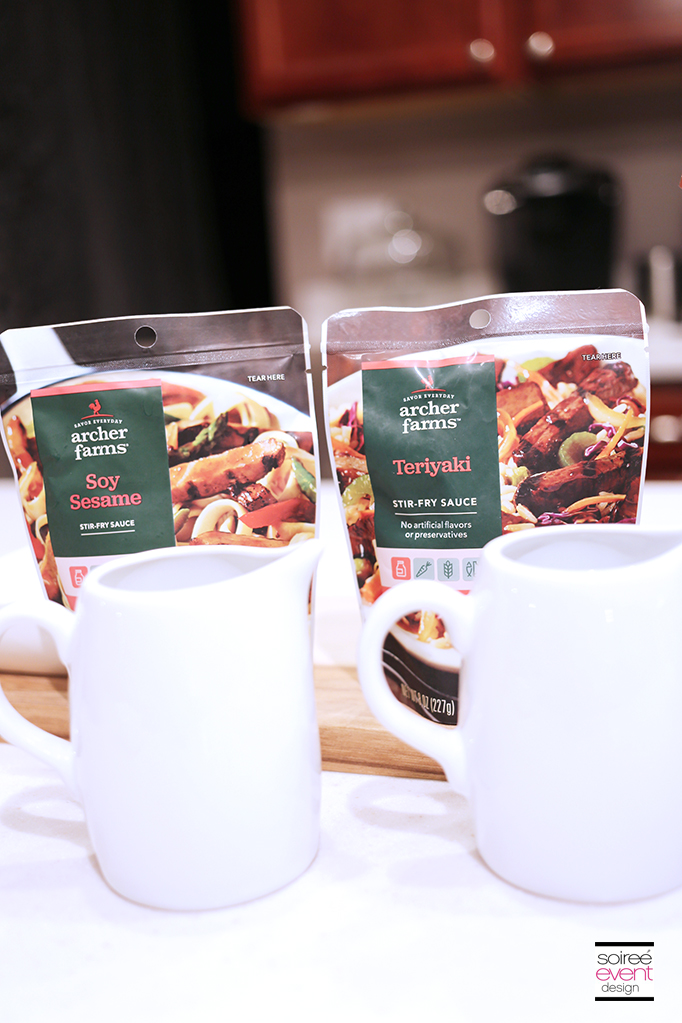 Serve Stir-Fry sauces in mini pitchers