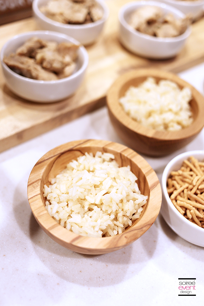 Serve rice in Wood Mini Bowls