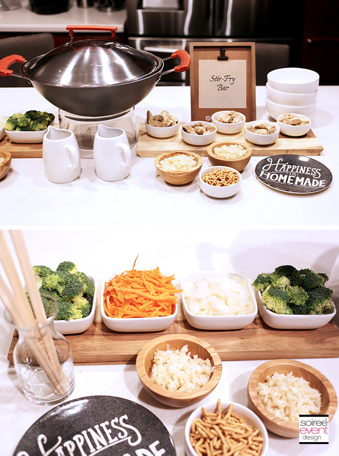Stir-Fry Food Table for a party