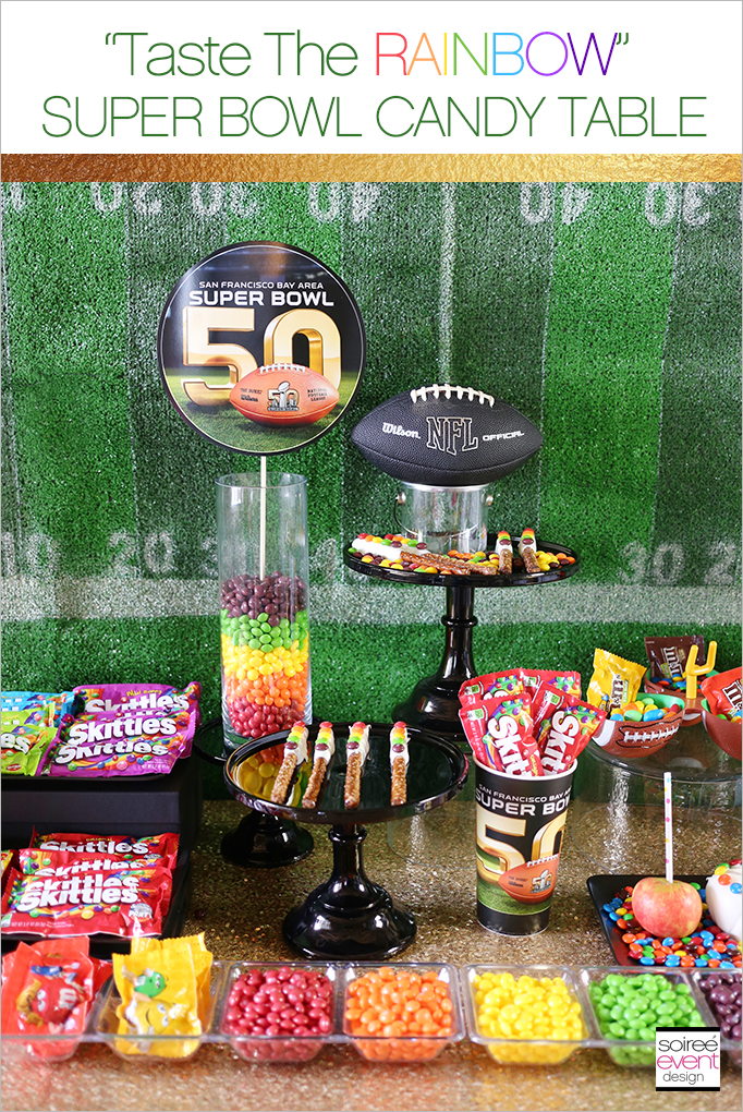 skittles taste the rainbow super bowl 50 party candy. Black Bedroom Furniture Sets. Home Design Ideas