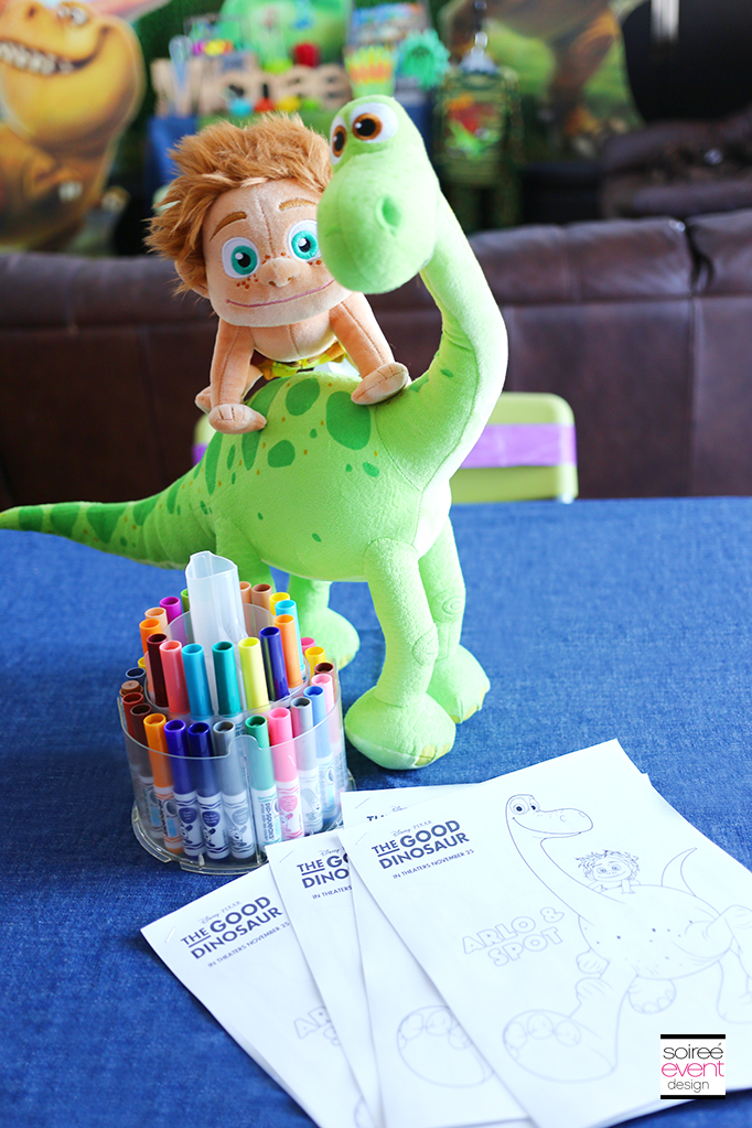 The Good Dinosaur Party Activity - Coloring Sheets