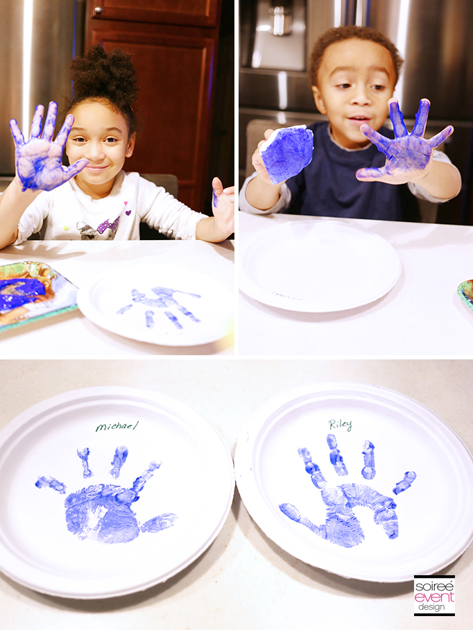 The Good Dinosaur Party Craft - Paint Handprints