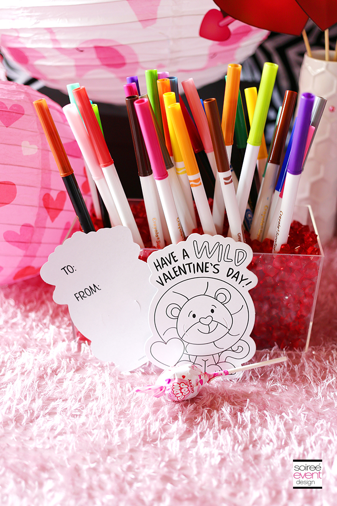 Color Your Own Valentine's Day Cards