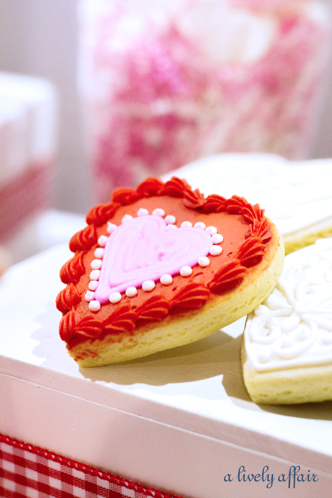 Heart Iced Cookies