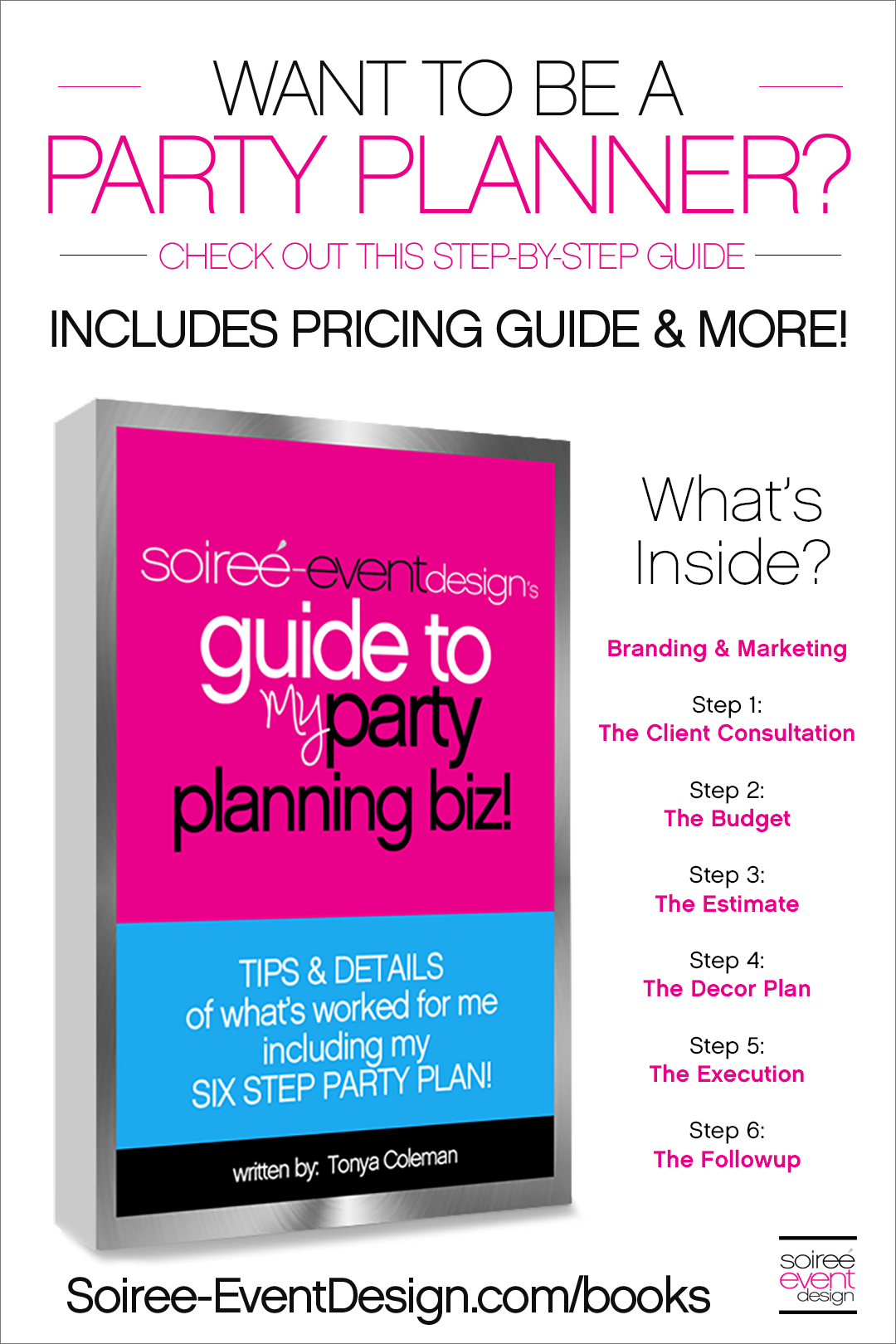 Want to be a party planner?  Check out this ebook on how I started my party planning business with all the details no one else wants to share including pricing!