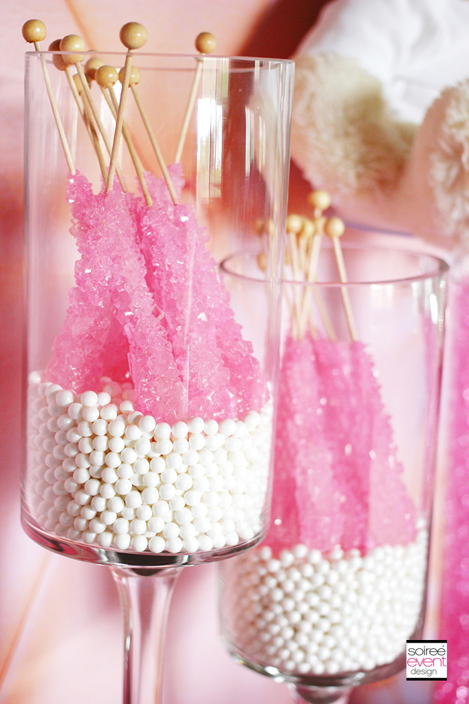 Pink Rock Candy display
