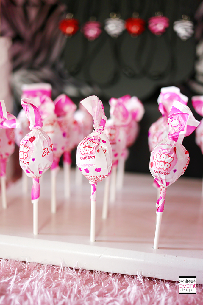 Pink and White Candy - Blow Pops