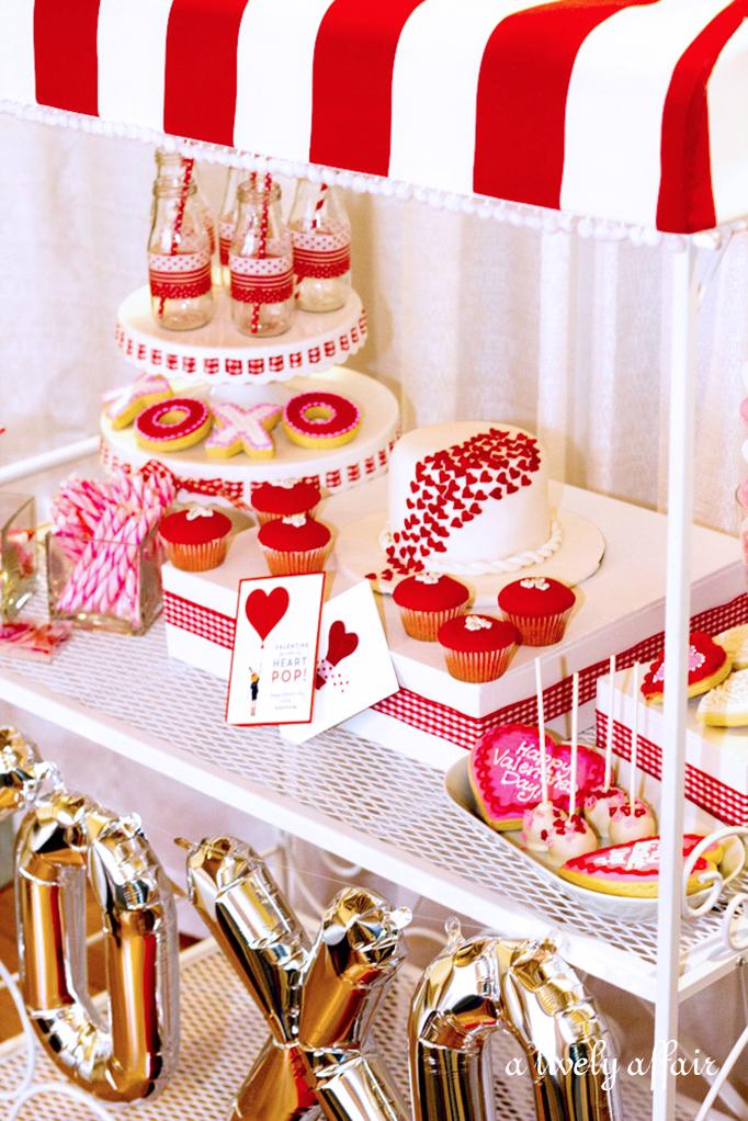 Valentines Day dessert cart ideas