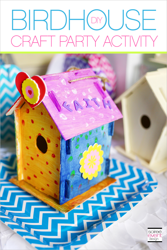 Birdhouse craft party activity