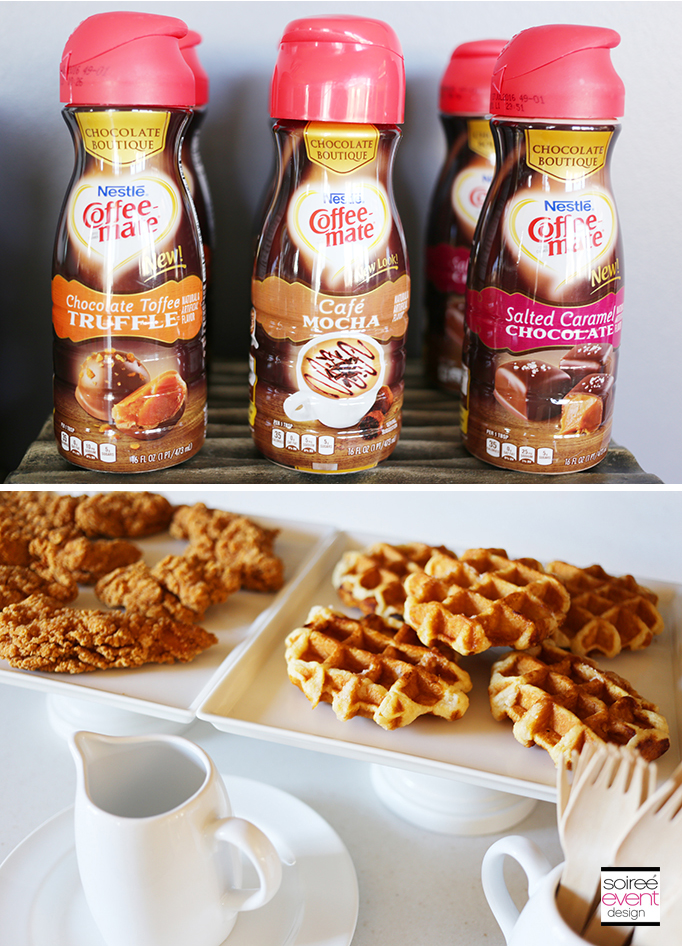 Chicken and Flavored Waffles recipe