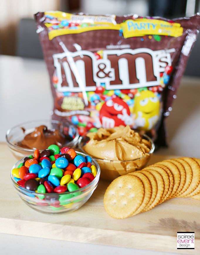 Chocolate Peanut Butter M&Ms Cracker Stackers Recipe 1