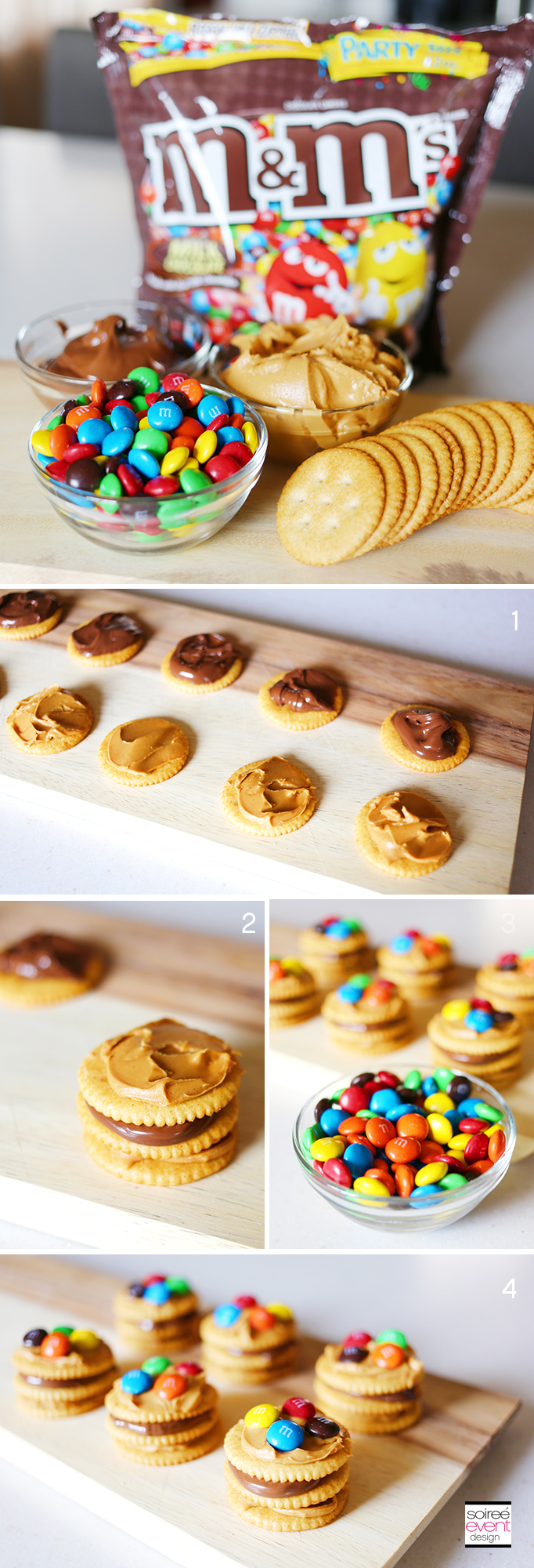 Chocolate Peanut Butter M&Ms Cracker Stackers Recipe
