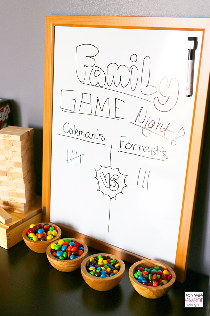Family Game Night Scoreboard