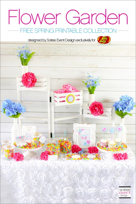 Flower Garden Jelly Bean Bar + Free Printables!