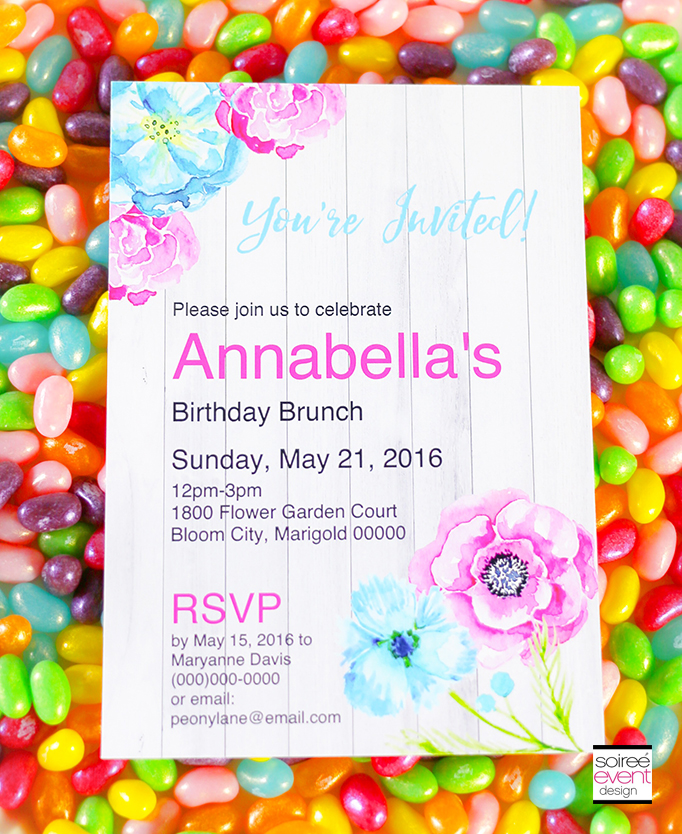 Flower Garden Party Free Printable Invitation