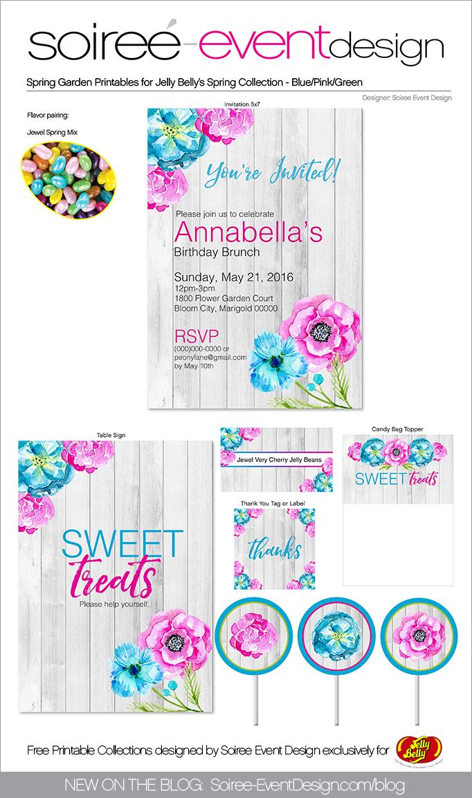 Free Spring Printables Flower Garden_Blue-Pink 2