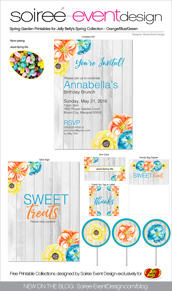 Free Spring Printables Flower Garden_Orange 2