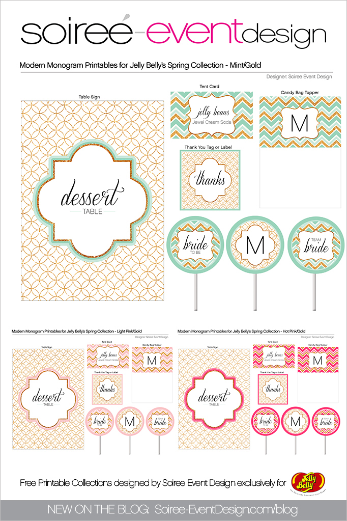 Free Spring Printables Modern Monogram