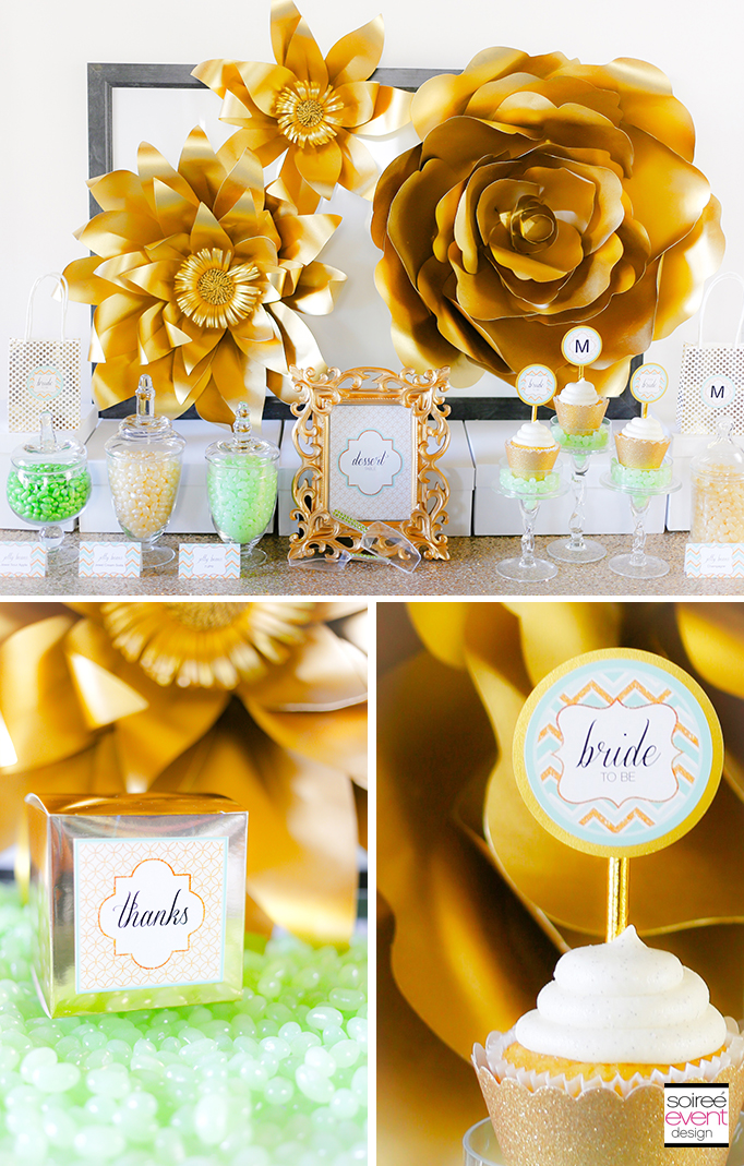 Gold-and-Mint-Green-Bridal-Shower