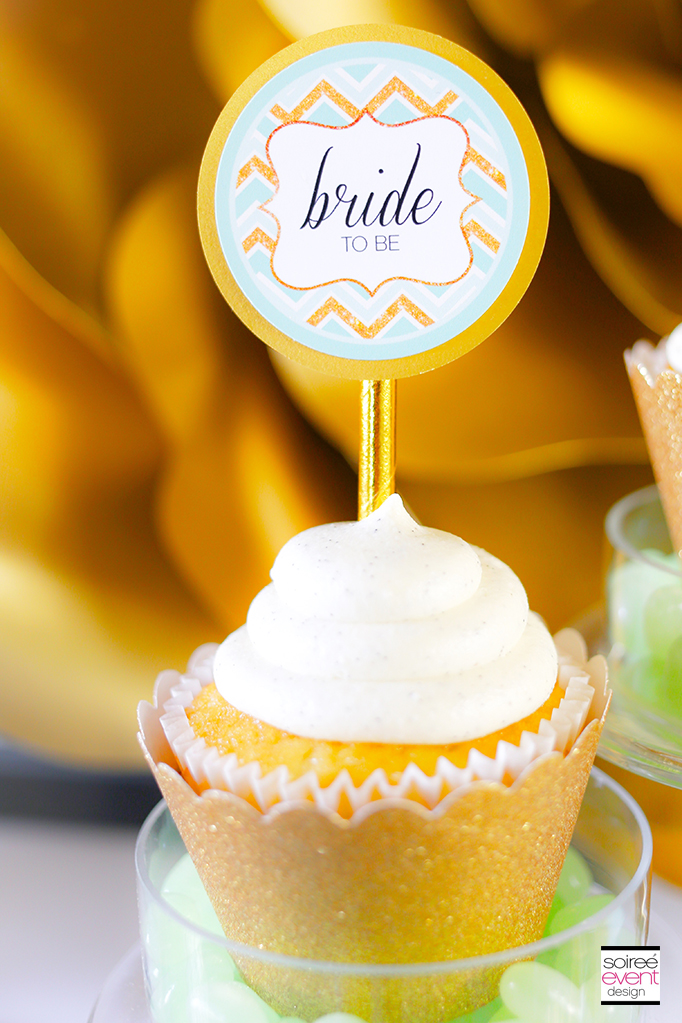 Gold-and-Mint-Green-Cupcake-Toppers