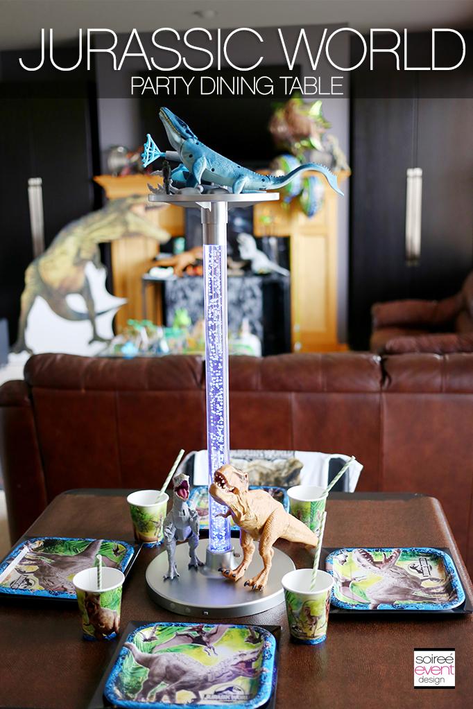 Jurassic World Dinosaur Party Soiree Event Design
