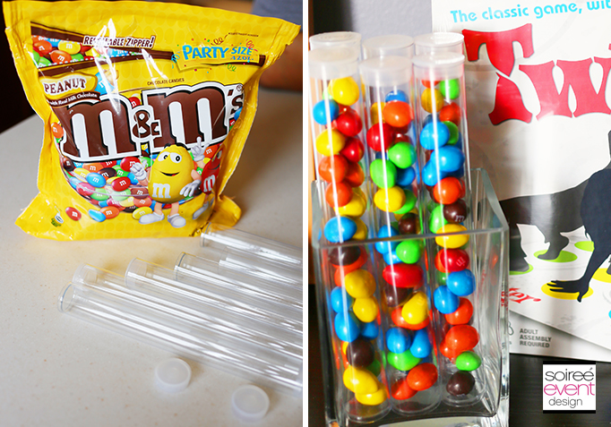 M&Ms party favors