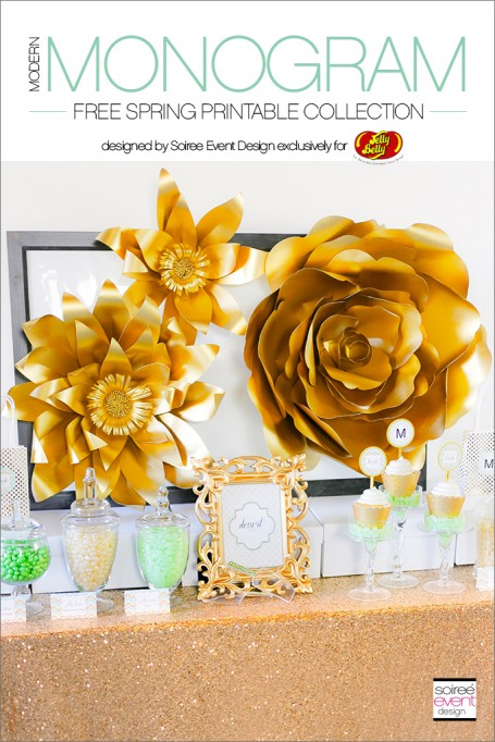 Gold Bridal Shower + FREE Spring Printables!