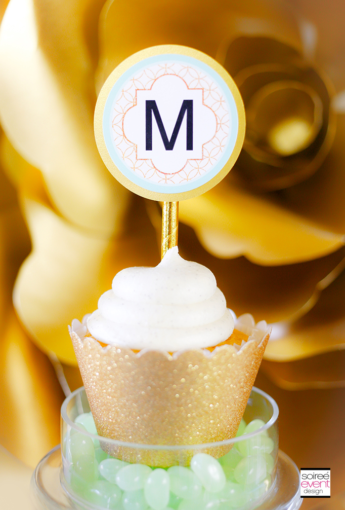 Monogram-Gold-Cupcake-Toppers