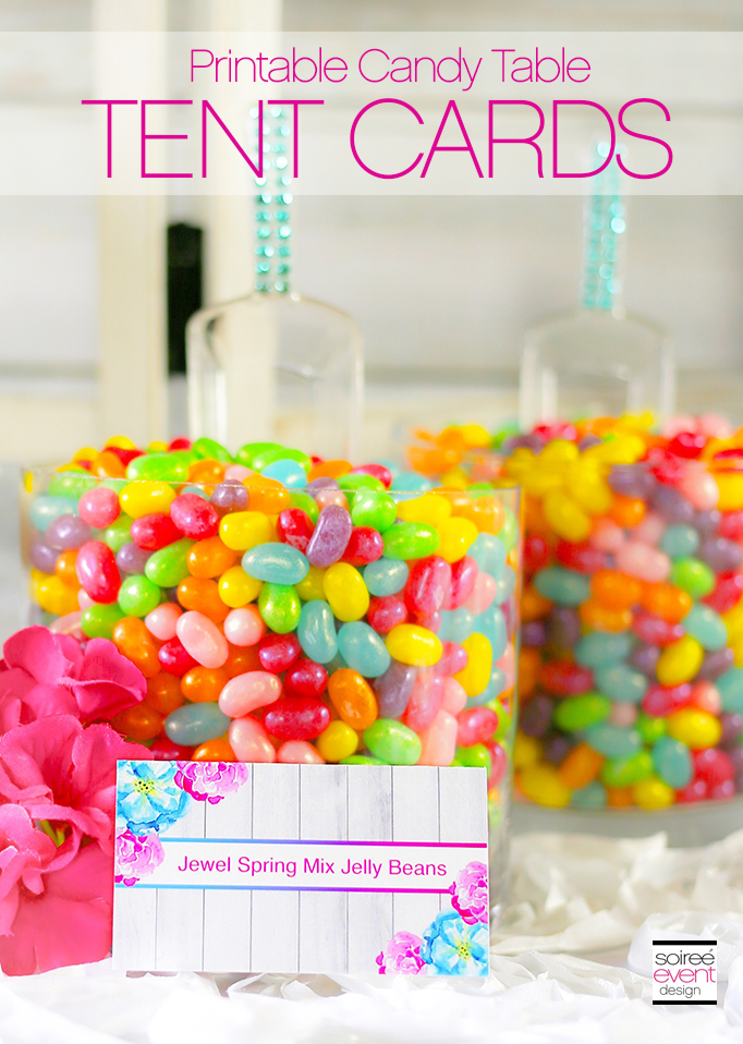 Printable Candy Table Tent Cards
