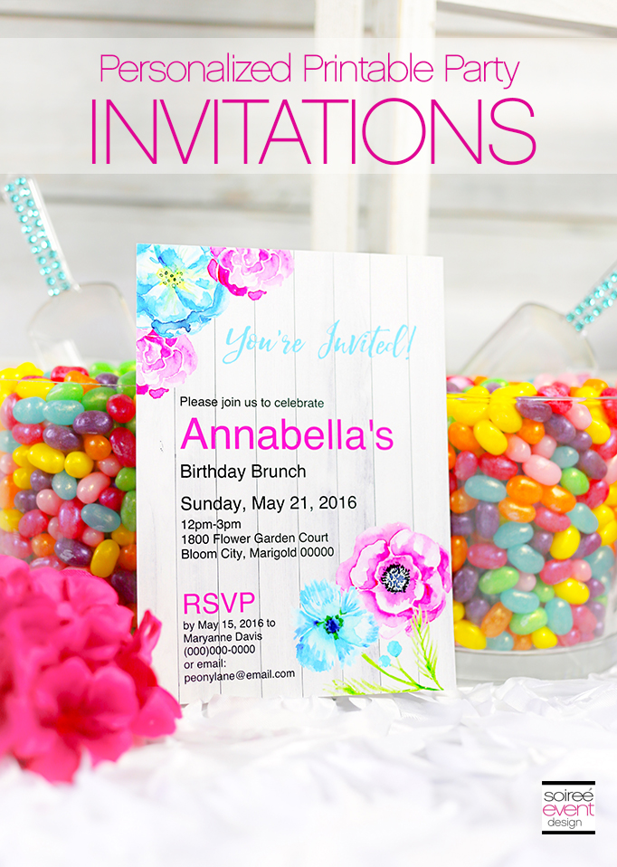 Printable Party Invitations