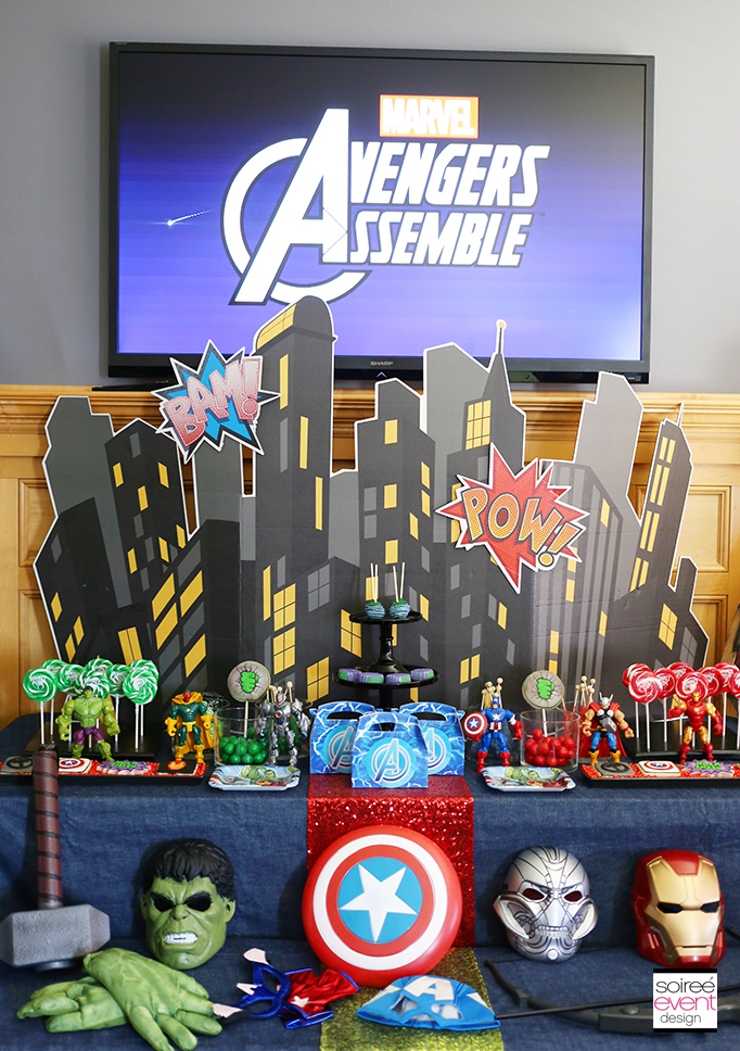 Avengers Party Backdrop
