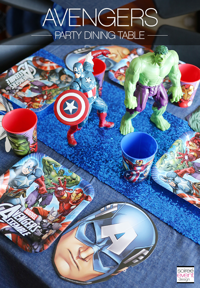 Avengers Party Dining Table