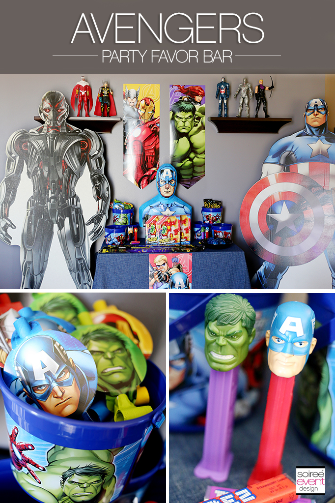 Avengers Party Favors Table