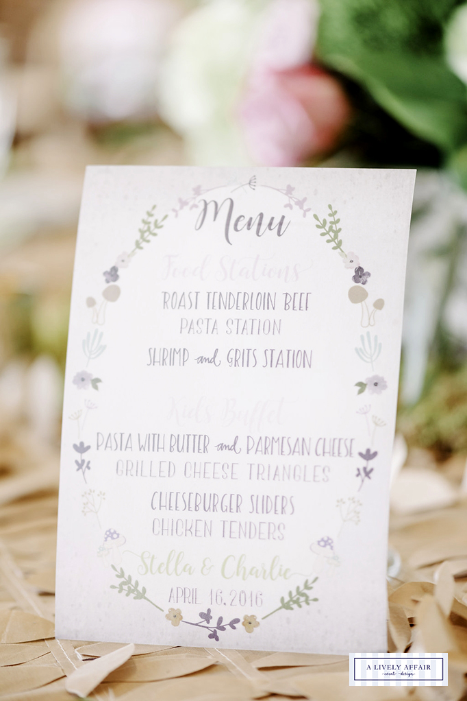 Enchanted Garden Menu Cards