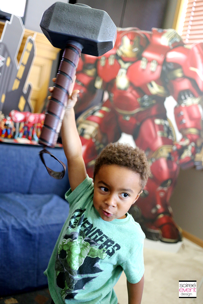 Michael as Thor