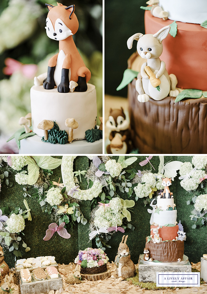 Woodland Animals Fondant Toppers