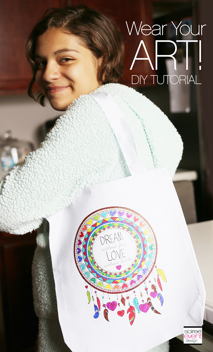 DIY Canvas Coloring Book Bag